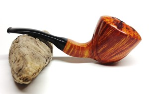 Cradled Dublin Finish:   Smooth Stem:   Ebonite Length:   6.5 in. Bowl Height:  2.5 in. Bowl Width:   2.5 in. Chamber Diameter:   7/8 in. This pipe has been entered into the pipe carver's contest at the KC pipe show.